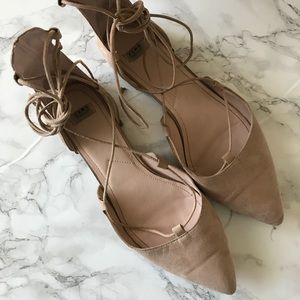 Zara Tie Up Flats